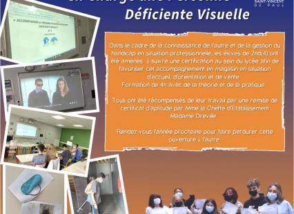 Classe de 2ndpro 4 Certification d'accompagnement des personnes déficientes visuelles